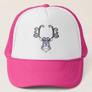 Rosa azul del gorra de los ciervos del reno de la