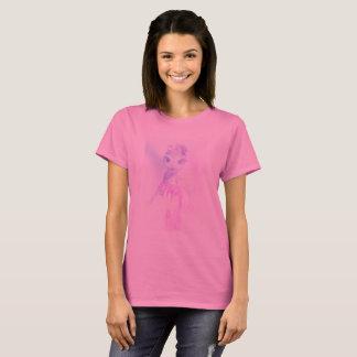 rosa básico de la camiseta de las mujeres