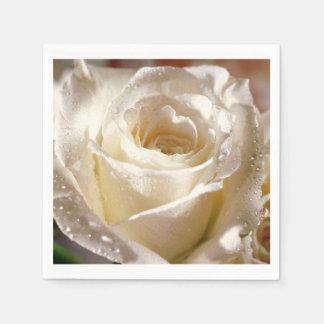 Rosa blanco que casa servilletas nupciales de la servilletas desechables