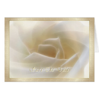 "Rosa blanco ""reserva tarjeta de la fecha"""