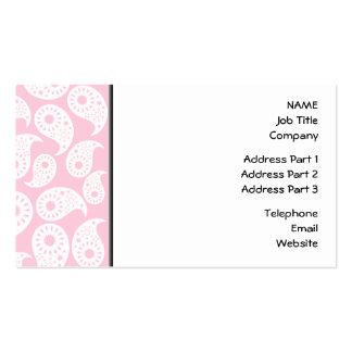 Rosa blanco y en colores pastel Paisley Tarjeta De Visita