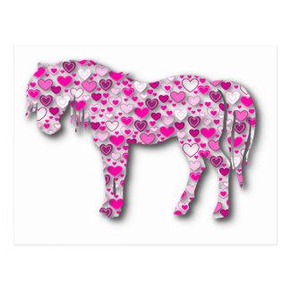Rosa - caballo del corazón postal