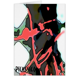 Rosa colorido del flamenco de la tarjeta de nota