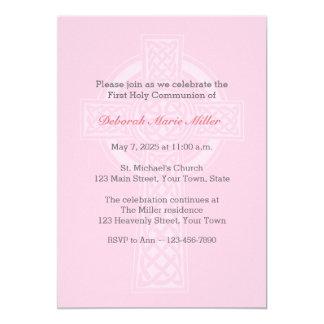 Rosa con la invitación religiosa cruzada