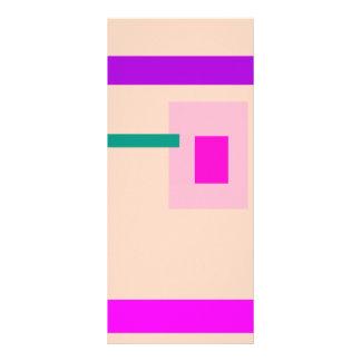 Rosa contemporáneo tarjeta publicitaria a todo color