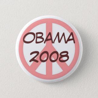Rosa de botón de Obama 2008 Brown