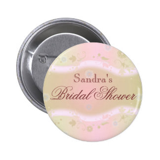 Rosa de botón nupcial elegante de la ducha del dis pins