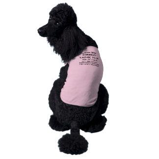 ROSA de encargo 2XL de la camiseta de las Camiseta Sin Mangas Para Perro