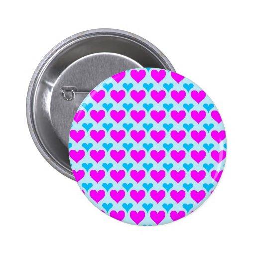 rosa de la aguamarina de los corazones pins