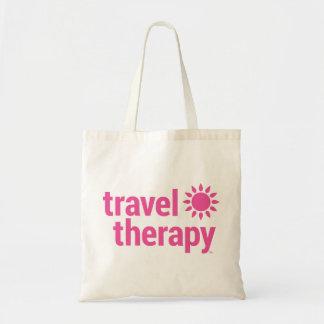 Rosa de la bolsa de asas de la terapia del viaje