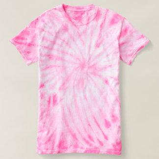 Rosa de la camiseta del teñido anudado del ciclón