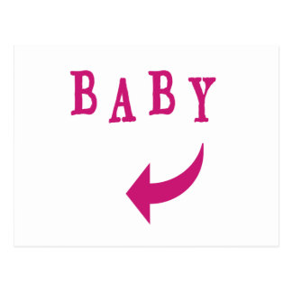 Rosa de la flecha del bebé postal