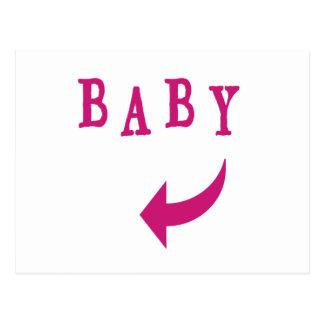 Rosa de la flecha del bebé tarjeta postal