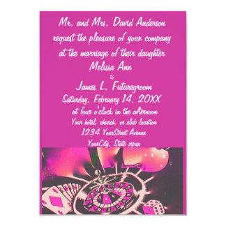 Rosa de la invitación del boda del tema del invitación 11,4 x 15,8 cm