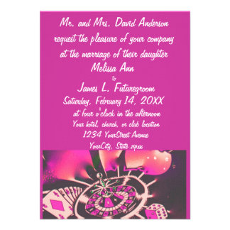 Rosa de la invitación del boda del tema del jugado