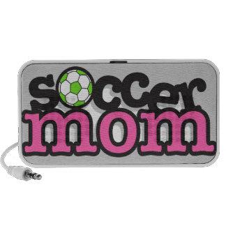 rosa de la mamá del fútbol altavoces de viajar