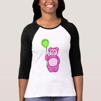 Rosa de la panda camiseta