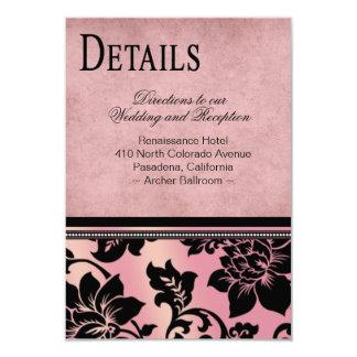 Rosa de las direcciones el | del boda de Fleur de Invitación 8,9 X 12,7 Cm