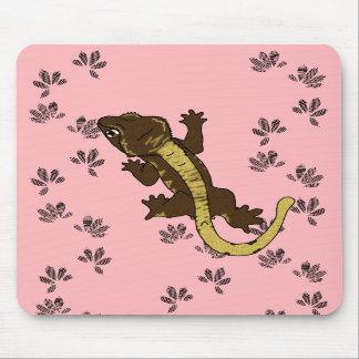 rosa de las huellas del crestie (mousepad) alfombrilla de raton