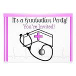 Rosa de las invitaciones de la fiesta de graduació comunicado personal