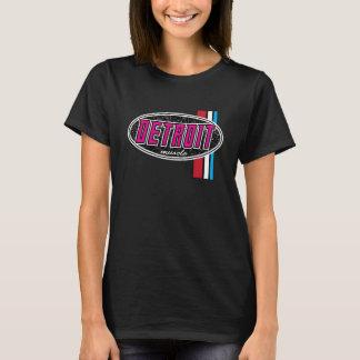 ROSA de las señoras del músculo de Detroit Camiseta