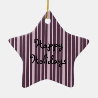 Rosa de las telas a rayas 2 - buenas fiestas adorno de navidad