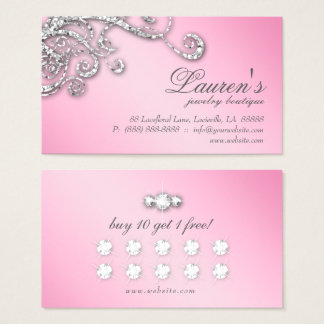 Rosa de los diamantes del purpurina de la tarjeta