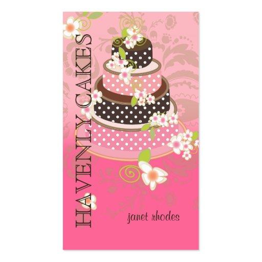 Rosa de PixDezines + Pastel de bodas del chocolate Tarjeta De Negocio