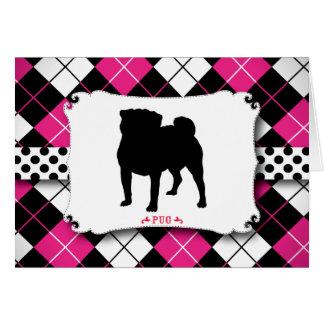 Rosa de punk rock del perro del barro amasado tarjeta de felicitación