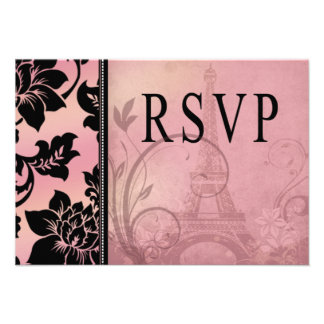 Rosa de RSVP el de la torre Eiffel de Fleur de P Anuncios