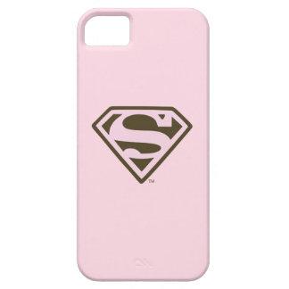 Rosa de Supergirl y logotipo de Brown iPhone 5 Case-Mate Cárcasas