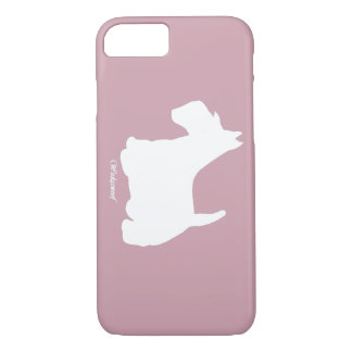 Rosa de Terrier del escocés de Wedgewoof Funda iPhone 7