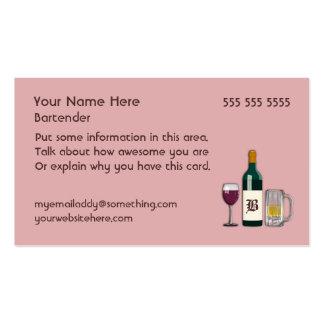 Rosa del camarero tarjetas de visita