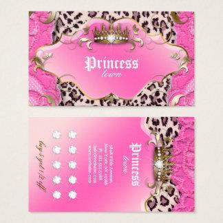 Rosa del cordón del leopardo de la tarjeta de la