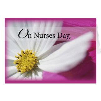 Rosa del día de 3598 enfermeras tarjeta de felicitación