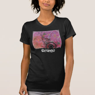 Rosa del diseño del Grunge Camisetas