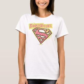 Rosa del logotipo del Grunge de Supergirl Camiseta