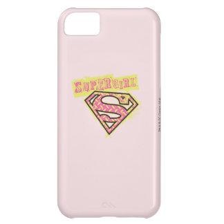 Rosa del logotipo del Grunge de Supergirl Funda Para iPhone 5C