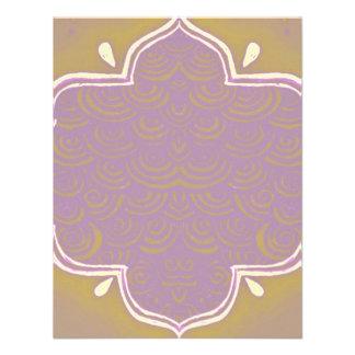 Rosa del marco de la alheña de Mehndi de la invita