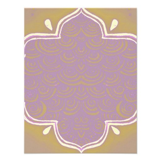 Rosa del marco de la alheña de Mehndi de la invita Invitación