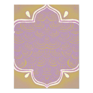 Rosa del marco de la alheña de Mehndi de la Invitación 10,8 X 13,9 Cm