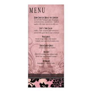 Rosa del menú el | de la cena de la torre Eiffel Invitación 10,1 X 23,5 Cm