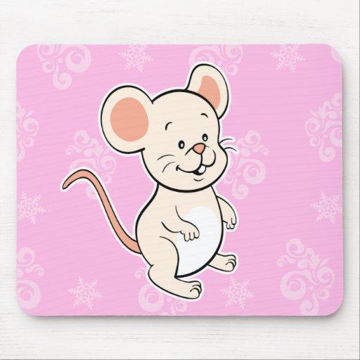 rosa del mousepad del ratón alfombrilla de ratón