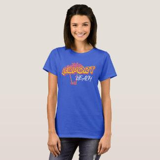 Rosa del neón de la playa de Newport Camiseta