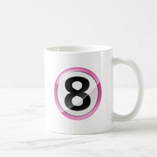 ROSA del número 8 Taza De Café