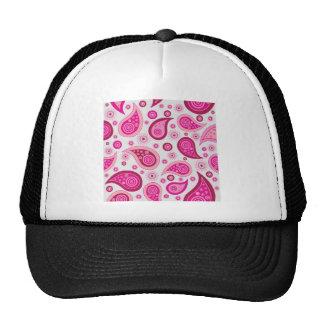 rosa del papel pintado gorras de camionero