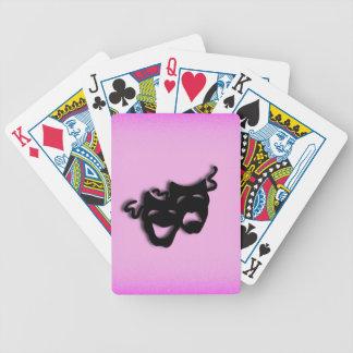 Rosa del teatro de la comedia y de la tragedia baraja de cartas