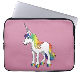 Rosa del unicornio manga del ordenador portátil de funda para portátil