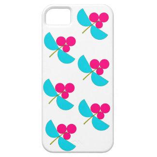 Rosa del vintage y flores de la turquesa funda para iPhone SE/5/5s