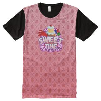 Rosa dulce del tiempo toda la camiseta impresa